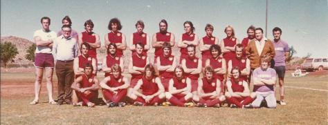 1980 De Grey Football Association combined team with President Colin Matheson